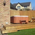 Hot tub decking and fencing Huddersfield