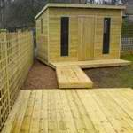 garden office decking fencing brighouse